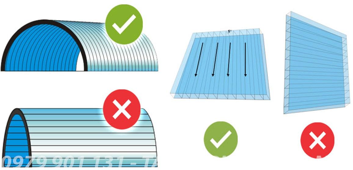 quy cách bảo quản uốn cong khi lợp mái