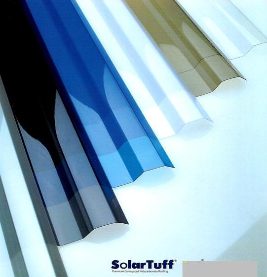 tôn lợp lấy sáng dạng sóng vuông solartuff